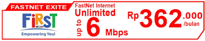 Paket Internet First Media FastNet Exite