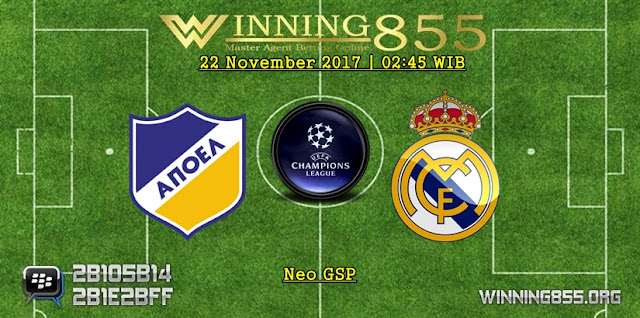 Prediksi Akurat Apoel vs Real Madrid 22 November 2017