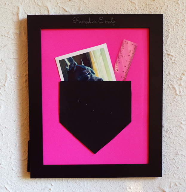 DIY Picture Frame Pocket Wall Art