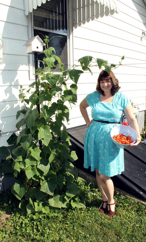 1950s plus size summer dress and victory garden va-voom vintage