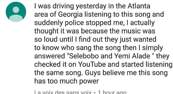 See what Policemen did to US-based Nigerian listening to Selobobo's song while driving