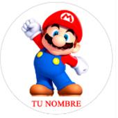 Oblea para tartas Mario Bros