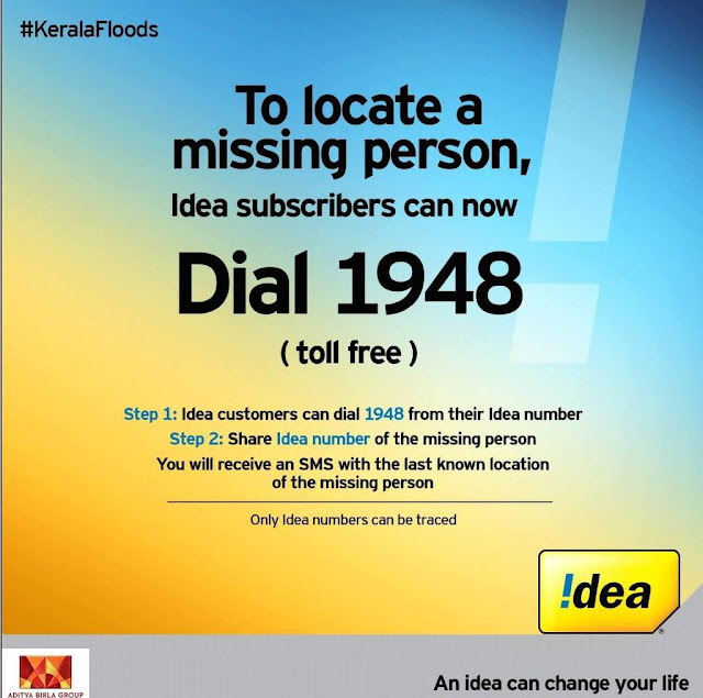 Idea launches toll free 1948 to help subscribers search for missing people