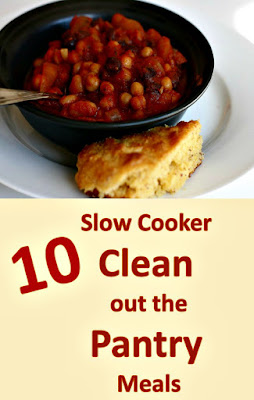 "there is nothing better than a ""free"" dinner! here are 10 tried and true clean out the pantry meals for your crockpot slow cooker"