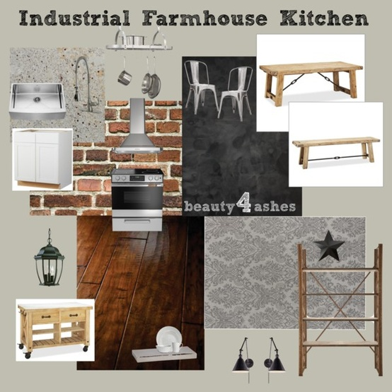 Modern Industrial Style Kitchen: Beauty 4 Ashes: Industrial Farmhouse Kitchen {31 Days Of