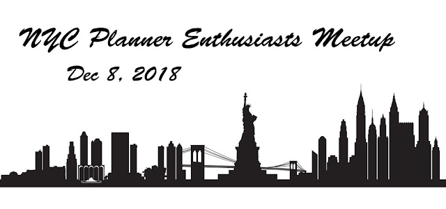 Planner Enthusiasts Meetup in New York City - Saturday, December 8, 2018