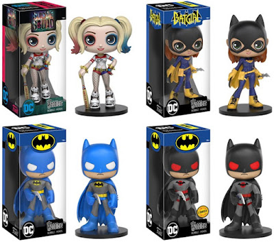 DC Comics Wobblers Bobble Heads Series by Funko – Suicide Squad Harley Quinn, Batgirl of Burnside, Blue Batman & Flashpoint Thomas Wayne Batman