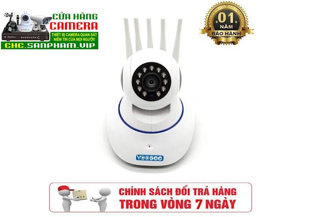 Camera giám sát Yoosee 5 râu - Wifi siêu khỏe