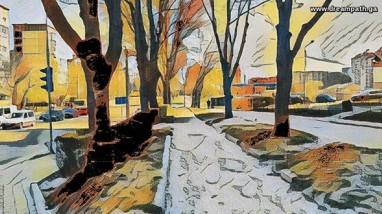 urban landscape in autumn