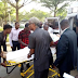 PHOTO NEWS: Former Spokesman Of PDP Metuh Arrives Court In Ambulance