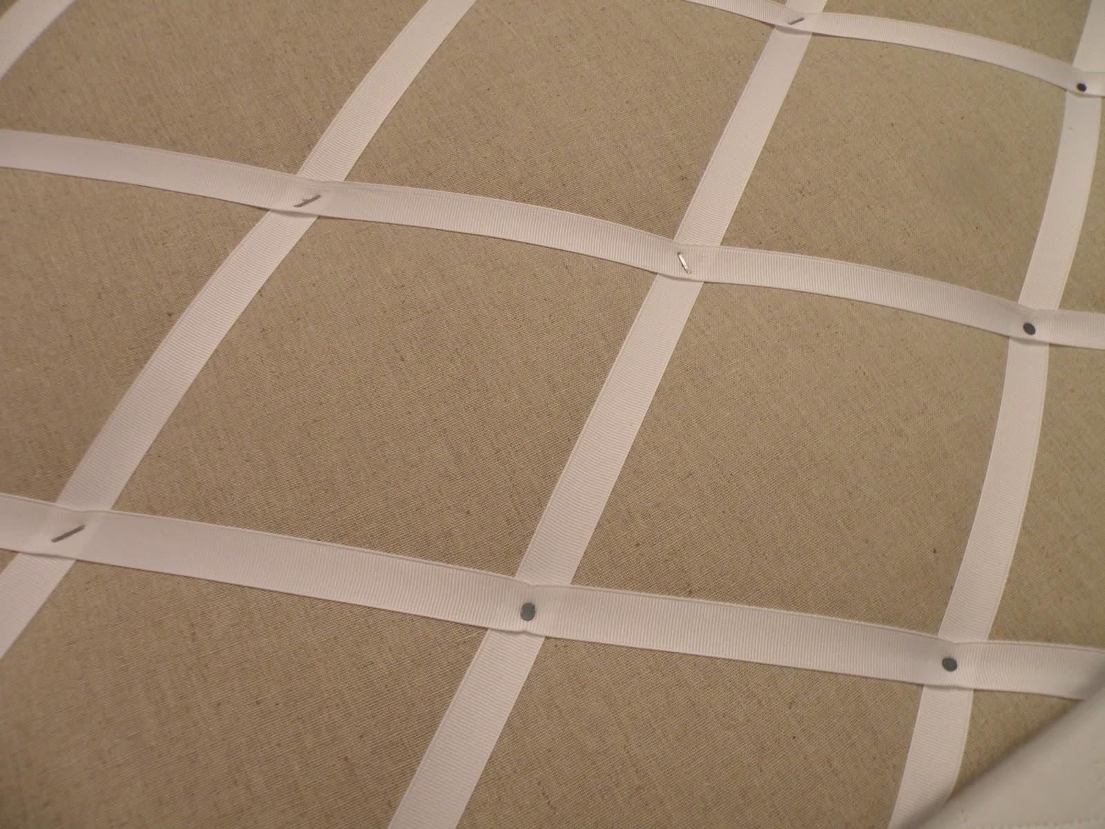 Tiffany Leigh Interior Design: DIY Ribbon and Linen Pinboard