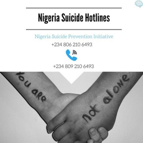 Photo:  Nigeria Suicide Hotlines, This Could Save Millions Of Lives