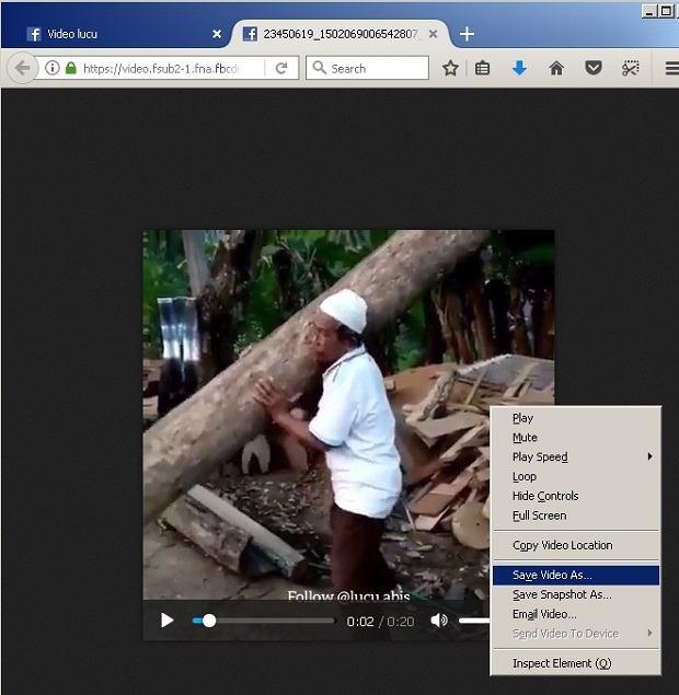 cara download video dari facebook tanpa aplikasi
