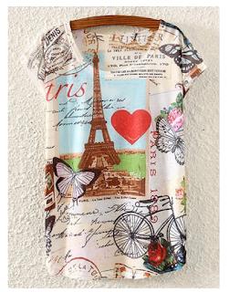Camiseta con dibujo de París