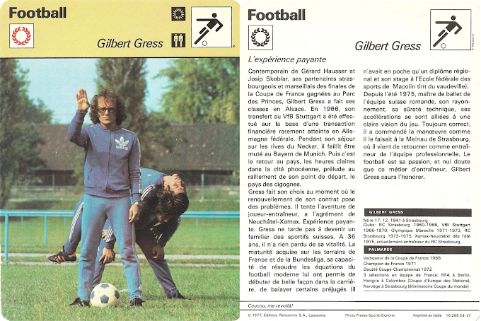 LA FICHE DETAILLEE. Gilbert Gress.