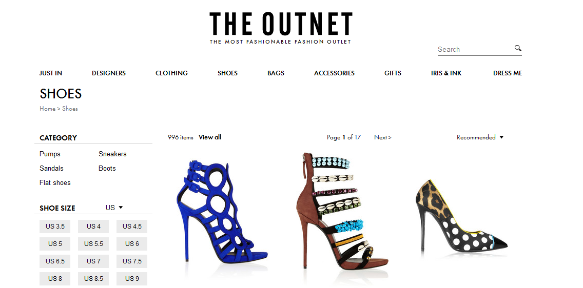 the outnet online shopping