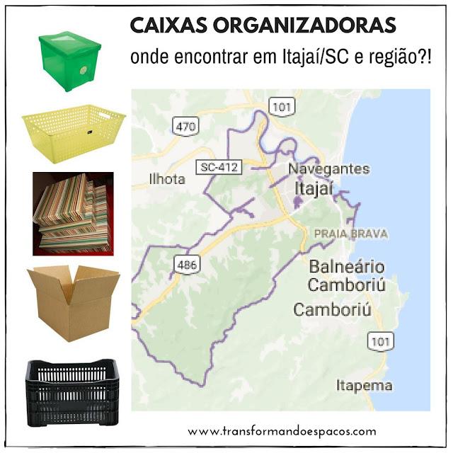 Caixas Organizadoras: onde comprar em lojas físicas em Itajaí/SC e região?