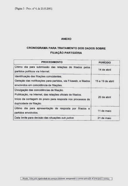 95d5912fd2b Cláudio Moraes Advogados  Provimento CGE 4 2015  Aprovado cronograma ...