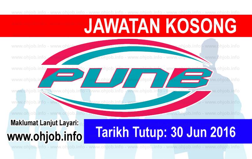 Jawatan Kerja Kosong Perbadanan Usahawan Nasional Bhd (PUNB) logo www.ohjob.info jun 2016