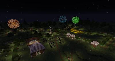 minecraft hobbiton bagshot row party field gandalf firework