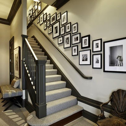 50 Creative Staircase Wall decorating ideas, art frames ... on Creative Staircase Wall Decorating Ideas  id=51153