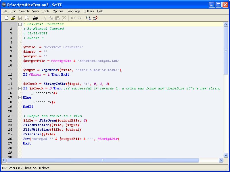 Michael's TechBlog: AutoIt - The Scripting Language for Windows