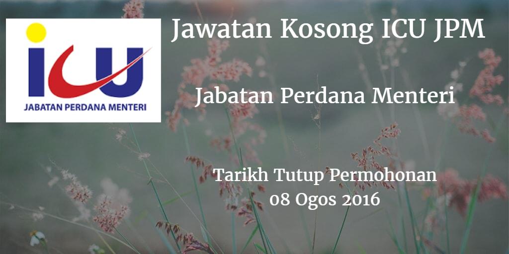 Jawatan Kosong ICU JPM 08 Ogos 2016