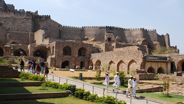 Golconda Fort tourist destination in Hyderabad Telangana