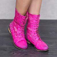 Cizme dama Floretta roz confortabile • modlet