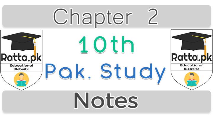 10th Pak Studies Chapter 6 Notes