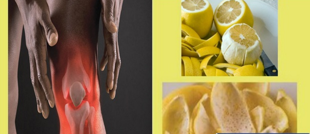 lemon peel heals joints