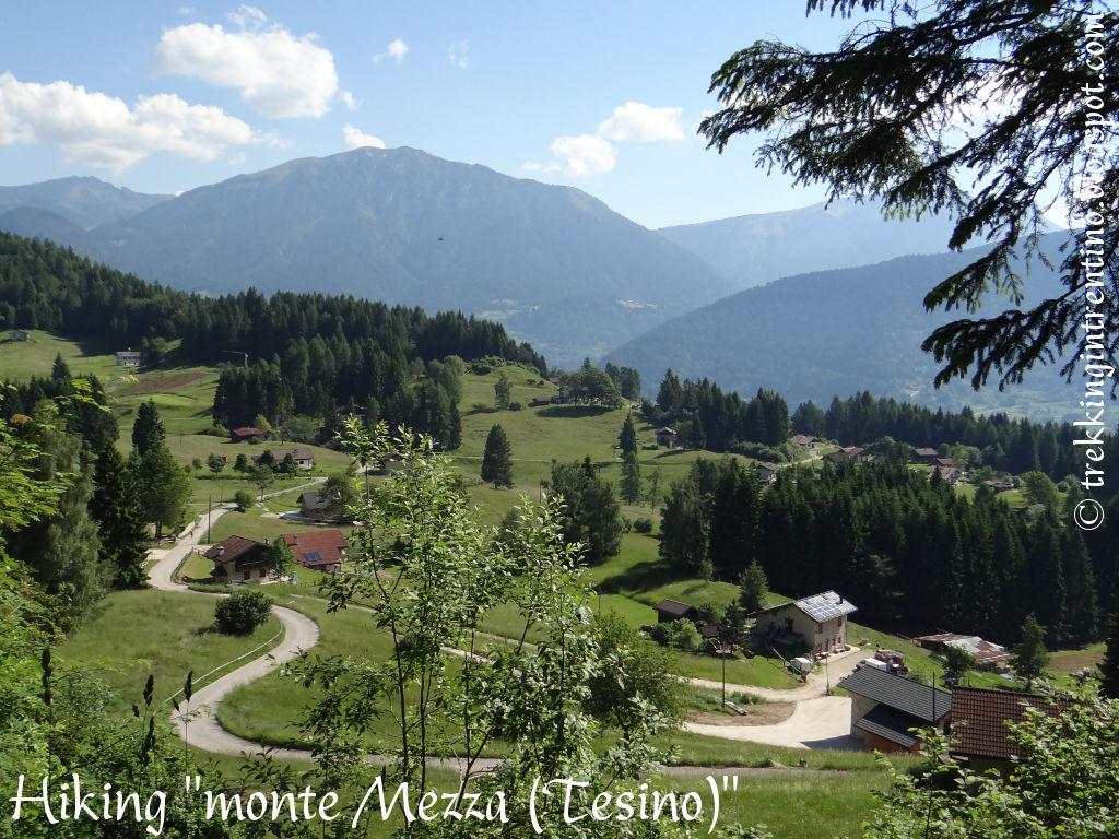 Trekking in trentino monte mezza for Monti del trentino