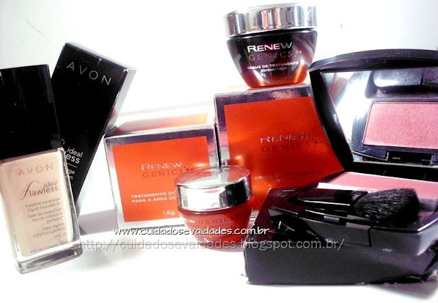 Renew Genics, Blush e Base Ideal Flawless