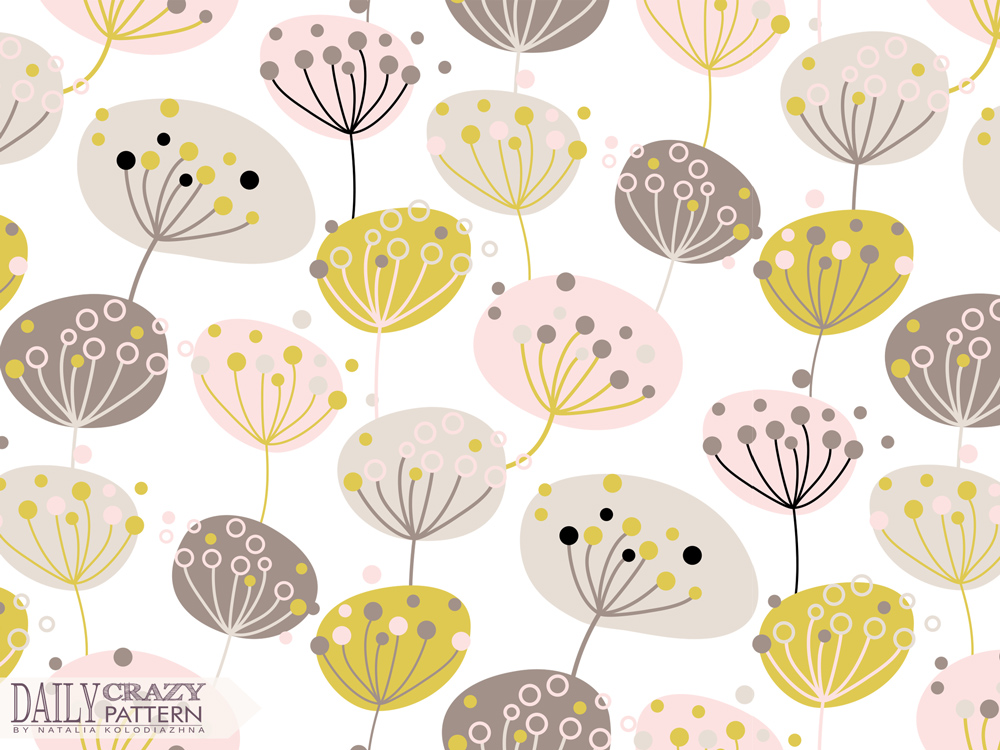 "Delivate floral pattern for ""Daily Crazy Pattern"" project"