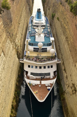 Celestryal Cruises Celestryal Nefeli Transits the Corinth Canal and Sets Record