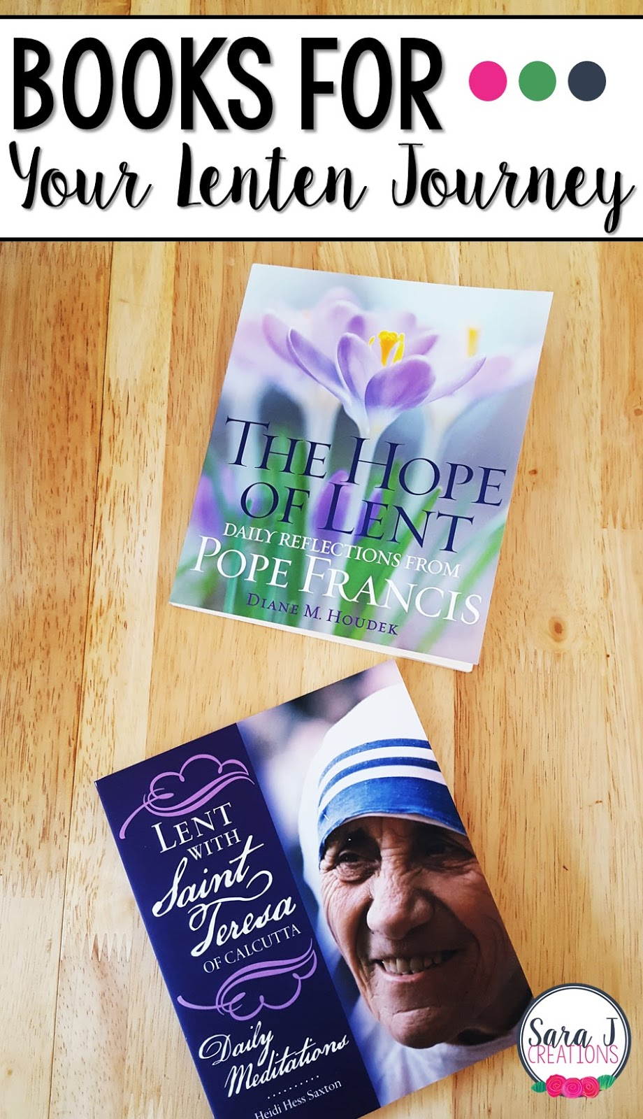 Two great books to help with your prayer life during Lent. Focused on the life and teachings of Mother Teresa and Pope Francis, this is a great read for Catholics preparing for Easter.