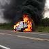 Ambulância pega fogo enquanto transportava paciente no norte da Bahia
