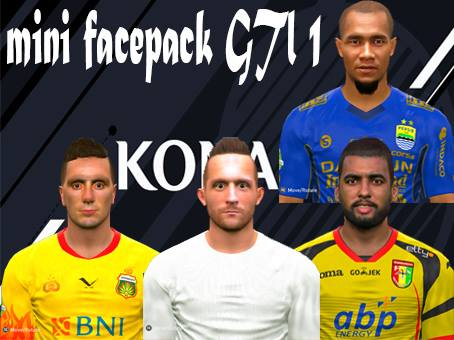 PES 2017 Liga 1 Gojek Traveloka Mini Facepack dari Dendi