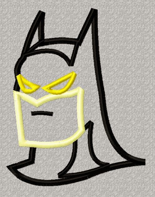 RRW Free Embroidery and Applique Designs  : Free Applique Batman