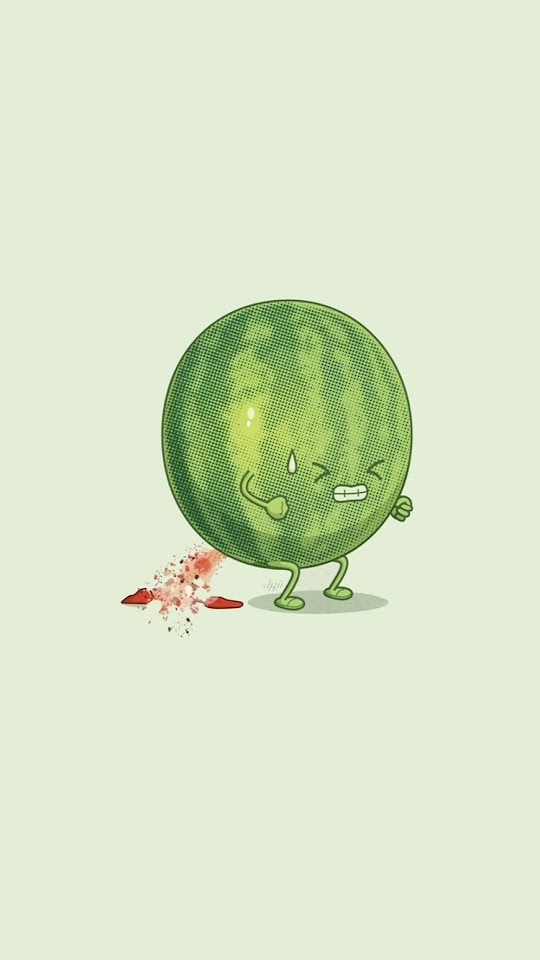 Watermelon Trying Hard Funny  Galaxy Note HD Wallpaper