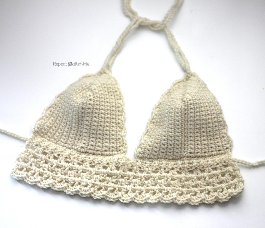 Crochet Bikini Pattern : Crochet Bikini Top - Repeat Crafter Me