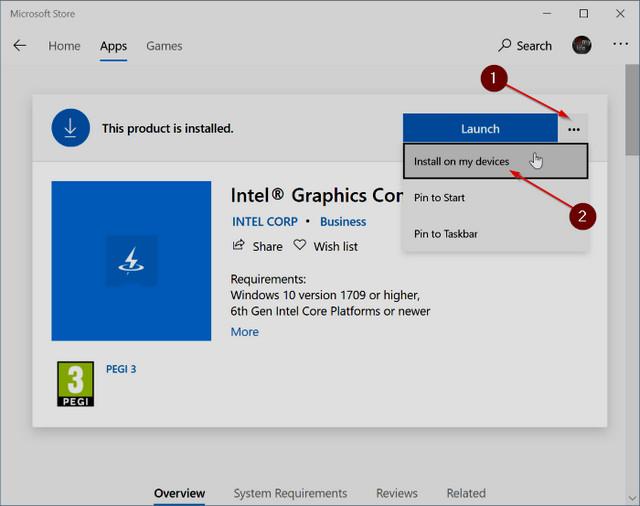 تثبيت التطبيقات من المتجر على جميع أجهزة ويندوز 10 في وقت واحد