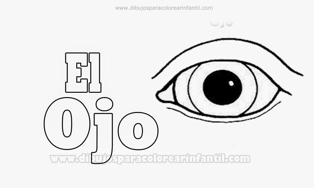 Dibujos De Ojos Infantiles Para Colorear: El Ojo Para Pintar