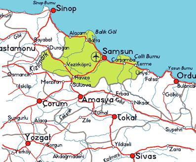 Samsun Gezi Rehberi, Samsun Gezilecek Yerler, Samsun Tarihi ve Genel Bilgiler,   Tur ve Gezi Organizasyonları, Turizm Gezi Rehberi, Şehri Gezi Rehberi Turları,