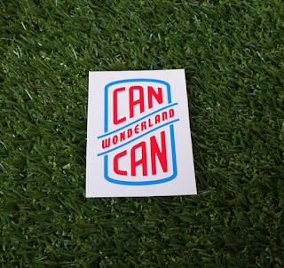 A Can Can Wonderland mini golf course sticker