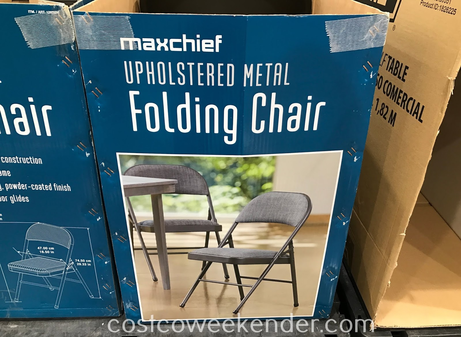Costco 1267890 - Maxchief Upholstered Metal Folding Chair: great for parties and get-togethers