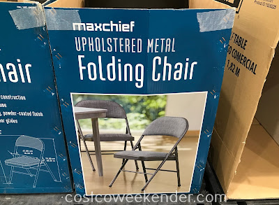 Maxchief Upholstered Metal Folding Chair Costco Weekender