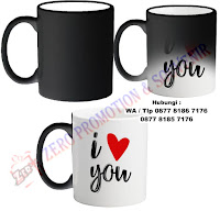 Mug Bunglon / Mug Magic cetak Foto
