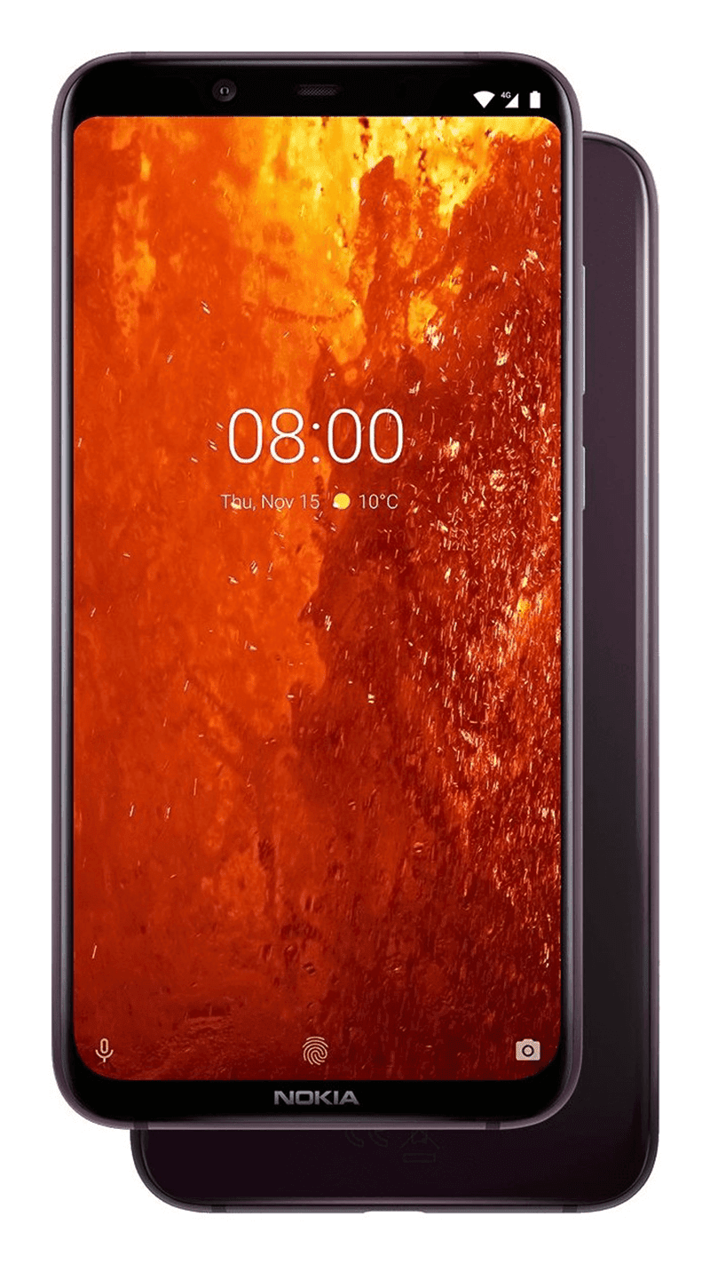 The Nokia 8.1 has NEG Dinorex instead of Corning Gorilla glass protection
