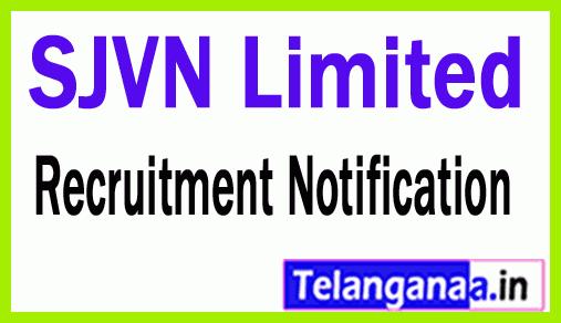 SJVN Limited Recruitment Notification
